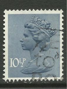 GB 1978 QE2 10 1/2p Dp Dull Blue Machin SG X891 ( A1078 )