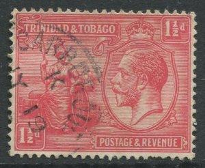 STAMP STATION PERTH Trinidad & Tobago #23 KGV Britania Used Wmk 4 - 1922-28