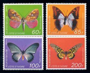 [65612] Ivory Coast 1978 Butterflies  MLH
