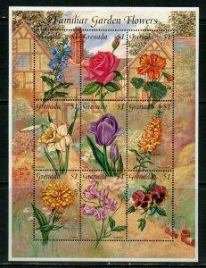 GRENADA  FAMILIAR GARDEN FLOWERS  SHEET II  MINT NH