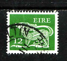 Ireland-Sc#466-used 12p green-Dog-Animals-1980-82-