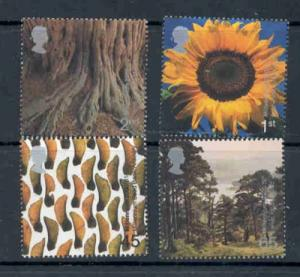 Great Britain Sc 1918-21 2000 Tree & Leaf stamp set mint NH
