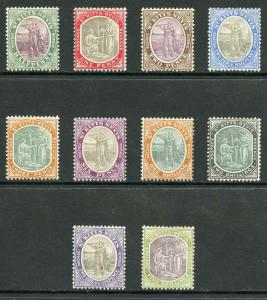 St Kitts-Nevis SG1/10 1903 Wmk Crown CA set of 10 M/Mint