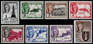 British Virgin Islands Scott 102-109 (1952) Mint H VF, CV $6.90 M