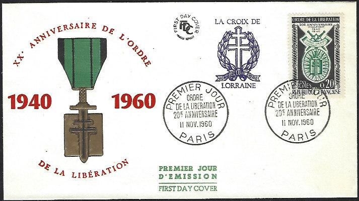 France #977 Nov 1960 Paris First Day Cover Unaddressed