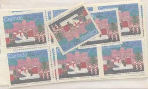 Canada USC #1070 Mint (50) VF-NH Cat. $75. 1985 32c Santa Claus Ex Booklet