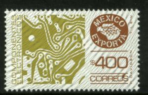 MEXICO Exporta 1137 $400P Circuit Board Fluor Paper 8 MNH