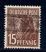 Germany Deutsche Post Scott # 605, mint hr, variation