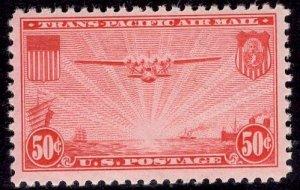 US Stamp #C22 50c China Clipper MINT NH SCV $10.00