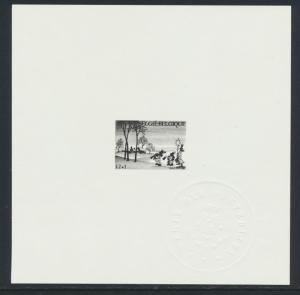 BELGIUM 1984, XMAS DELUXE PROOF ON PAPER WITH SEAL Sc#B1039 (SEE BELOW)