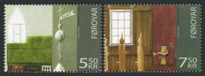 Faroe 478-479,MNH. Sandur Church,2006. Exterior & interior.