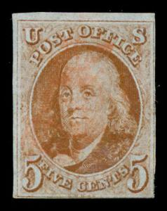 momen: US Stamps #1b Used F/VF