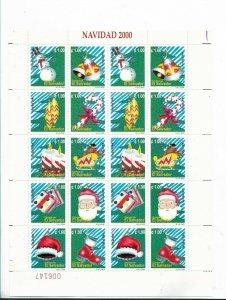 EL SALVADOR 2000 CHRISTMAS SANTA CLAUS SCOTT 1544 MI 2235/44 FULL SHEET MNH