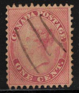 CANADA QV 1c Rose SC14 1859 Used VG