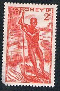 Dahomey 113 MLH Man poling canoe (BP0993)