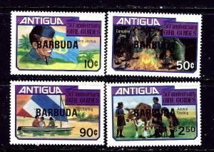 Barbuda 517-20 MNH 1981 Girl Guides