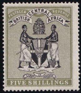 British Central Africa 1895 SC 28 MLH Set SCV$ 300