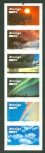 SWEDEN (SH1) Scott 2396, Signs in the Sky S.A. booklet, VF,
