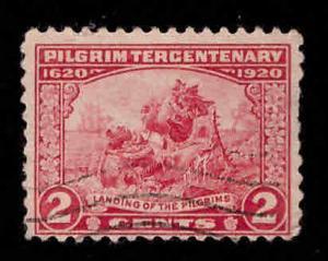 USA Scott 549 Used Pilgrim stamp