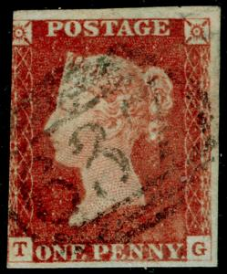 SG8, 1d red-brown, USED. Cat £30. TG