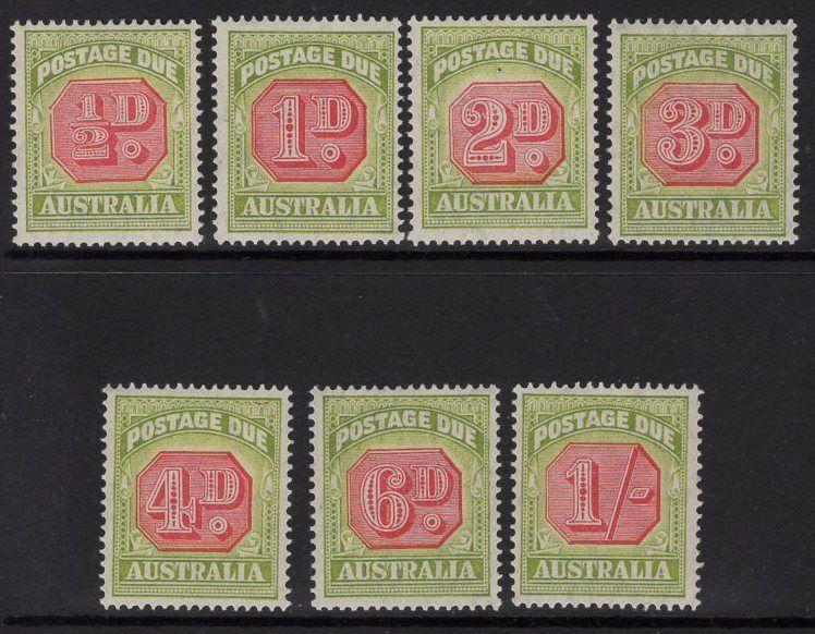 AUSTRALIA SGD112/8 1938 POSTAGE DUE SET MTD MINT