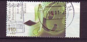 J2692 JLS stamps 2001 germany used #b892 $2.00 movie reel