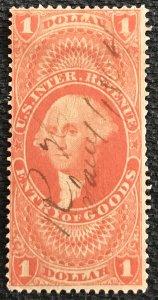 US Revenue #R67c Used Single SP George Washington SCV $2.75 L37