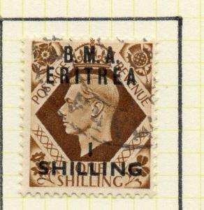 Eritrea 1948-50 Early Issue Fine Used 1S. Surcharged BMA Optd 308049