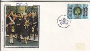 1977, Great Britain: Silver Jubilee, Colorano Silk, FDC (E8497)