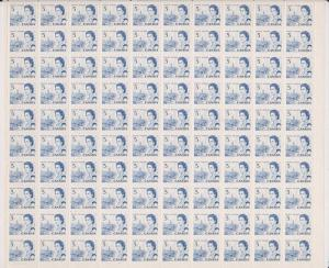 Canada - #458iii - 5c QE Hibrite Sheet of 100 stamps VF-NH
