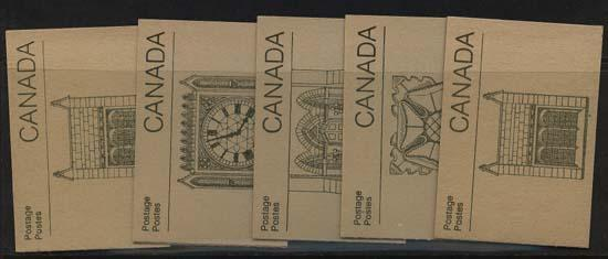 Canada - Five Diff. Complete 36c Booklets #BK92a & BK92b