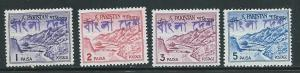 Bangladesh Pakistan Overprint 129b-32b Khyber Pass MNH (2...