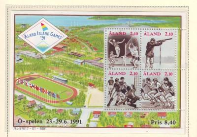Aland Sc 58 1991 Aland Games stamp sheet mint NH