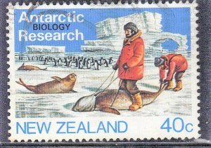 NEW ZEALAND SC# 792  USED*  40c   1984  ANTARTIC RESEARCH  SEE SCAN