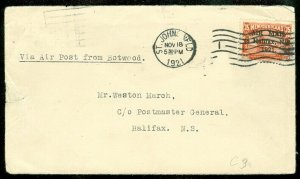 EDW1949SELL : NEWFOUNDLAND 1921 Scott #C3 on 1921 cover. A few small creases.