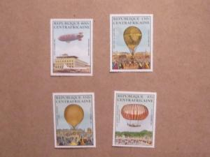Central Africa - C282-5, MNH Set. Manned Flight Bicentenary. SCV - $10.00