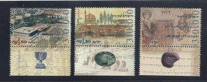 Israel MNH 1245-7 W/Tabs Jerusalem 1995