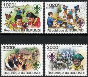 Burundi MNH 921-4 Scouting 2011 SCV 12.50