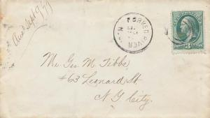 United States New Jersey Forked River 1877 target  3c Washington Banknote.