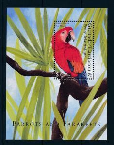 [31775] Grenada Grenadines 2000 Birds Vögel Oiseaux Ucelli  Parrots MNH Sheet