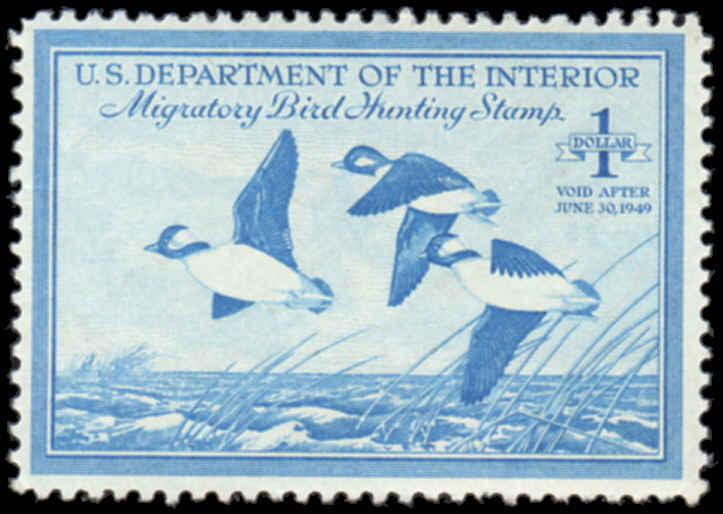 RW15 1948 Federal Duck Great Color Mint Never Hinged     (6r)
