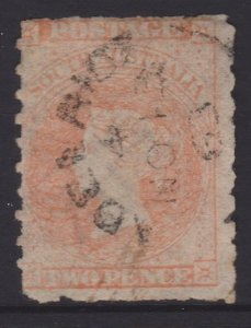 South Australia Sc#16b Used Pale Vermillion
