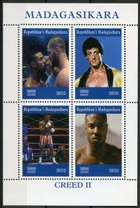 Madagascar 2019 SYLVESTER STALLONE CREED II Sheet Perforated Mint (NH)