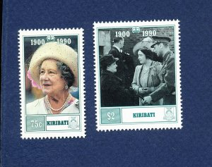 KIRIBATI - Scott 555-556 - FVF MNH - Queen Mother 90th Birthday - 1990