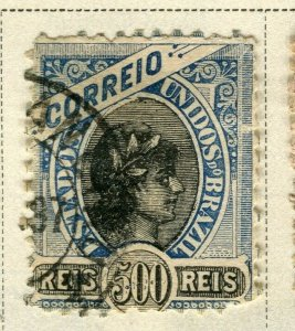 BRAZIL; 1894 early classic issue fine used 500r. value