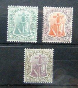 Montserrat 1904 - 08 values to 6d MM