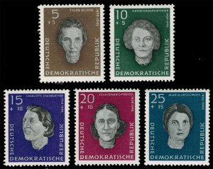 Germany DDR #B49-B53 Woman War Victims Complete Set; MNH