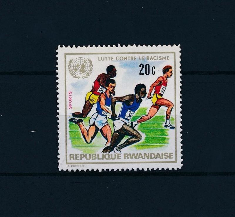 [46286] Rwanda 1972 Sports Athletics against racism from set MNH
