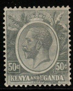 KENYA, UGANDA & TANGANYIKA SG85 1922 50c GREY MTD MINT