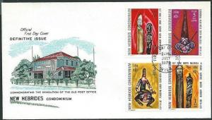 NEW HEBRIDES 1972 Definitives carvings commem FDC..........................41245